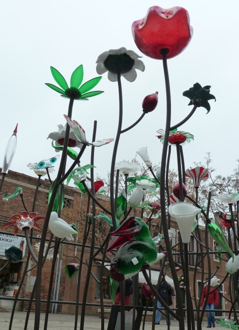 glass flowers, Murano