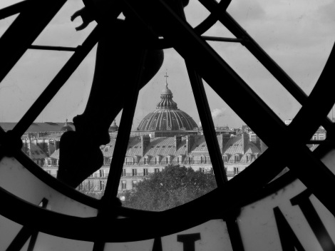 musee d'Orsay view b&w