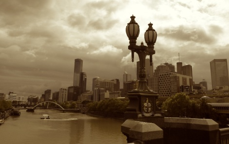 Yarra river cityscape, Melbourne