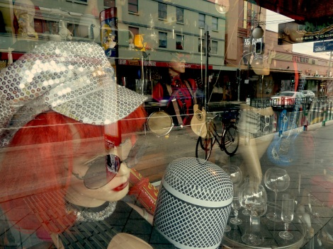 Enmore -street reflection in shop window