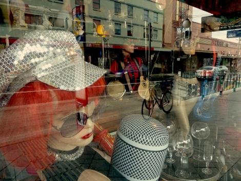 Enmore -street reflection in shop window