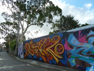 Street art with eucalypts