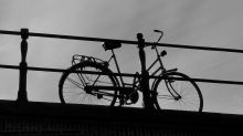 unusually lone bike, Amsterdam