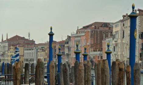 Mooring posts, Venice, Italy