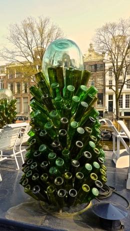 Bottle sculpture, Amsterdam, The Netherlands