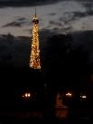 Eiffel Tower evening show