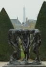 Eiffel Tower Rodin's garden