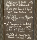 Roussillon- menu