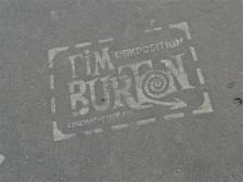 Tim Burton street stencil, Paris