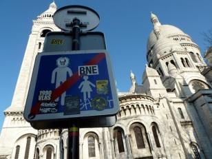 Sacre Coeur street sign, Paris