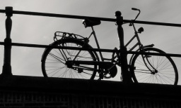 Bike on a bridge, Amsterdam