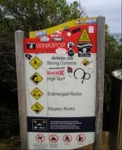 Surf beach warnings