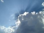 Sun burst cloud