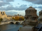 Musee d'Orsay rooftop view, Seine River, Paris