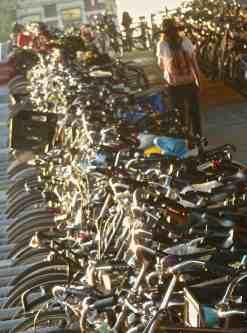 Amsterdam bike station