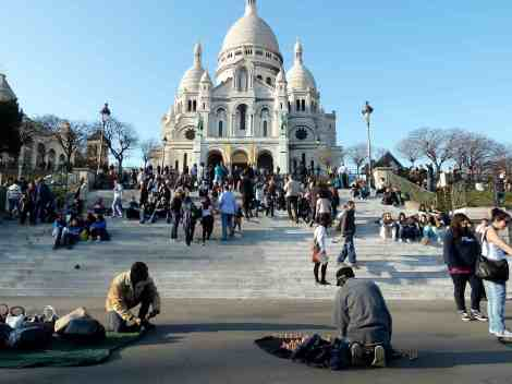 A few hours later, Sacre Coeur, Paris