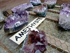 purple gemstones, Rousillon, Provence