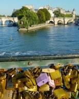 purple lock, Pont des Arts, Paris