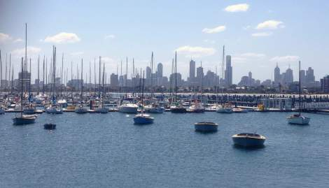 Melbourne: skyline from St Kilda