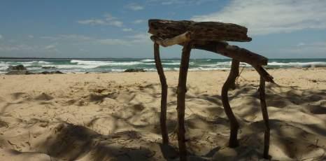 Driftwood sculpture, Town Beach